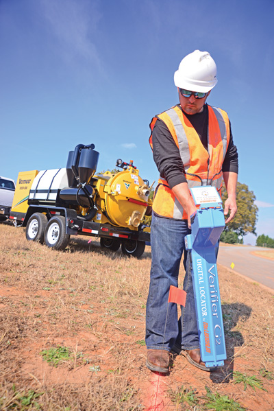 The reachable depth of utility locators varies according to soil conditions and signal strength. Typically, they reach down 15 to 30 ft, which generally is sufficient, since that is several times deeper than most buried pipes and lines.