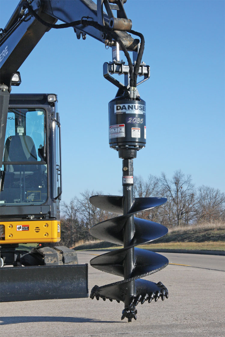 Turn a Mini Excavator into a Meticulous Hole Digger with an
