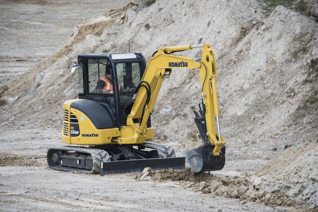 PC55MR-5 Komatsu mini excavator
