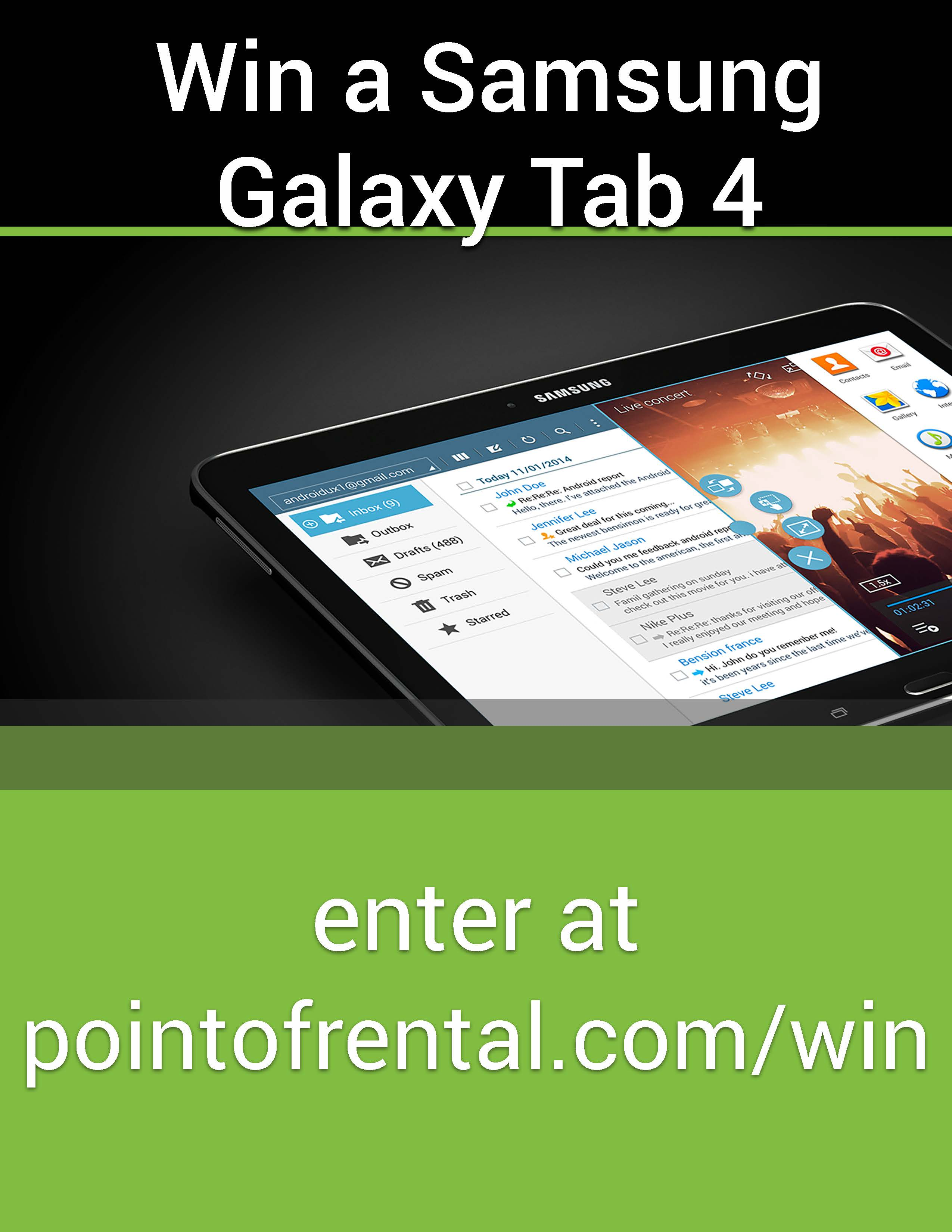 Stop at the Point of Rental Booth at The Rental Show and Win a Free Tablet