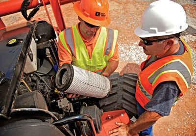 Expect to regularly change filters, especially when working in the adverse and dusty conditions of trenching.