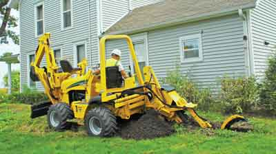Vermeer offers two compact tractor-type trenchers — the RTX450 and RTX550.