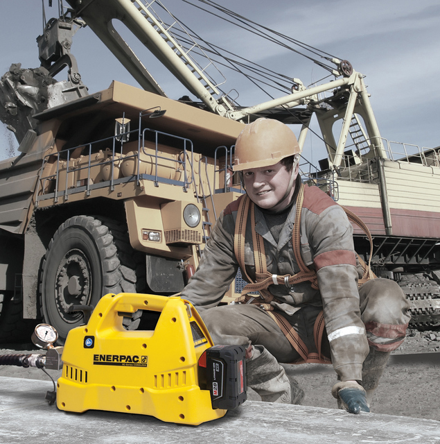Enerpac Cordless Hydraulic Pumps Now Available With Single- or Double-Acting Valves