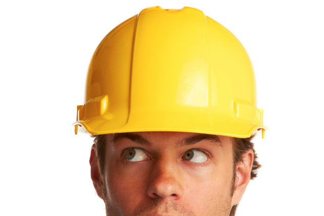 construction worker helmet studio