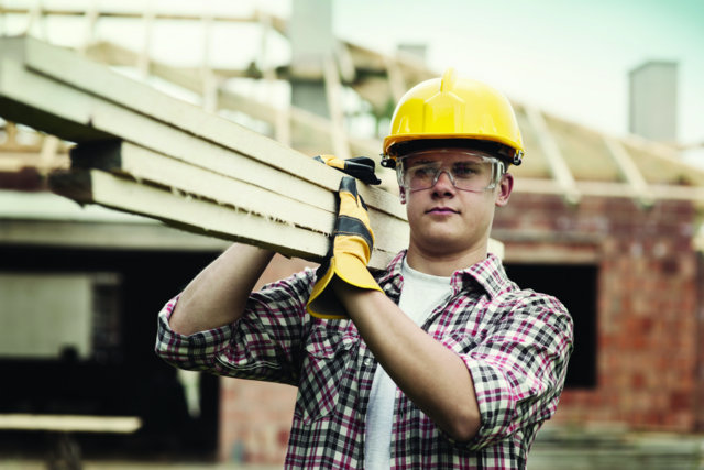 construction worker, home building, lumber