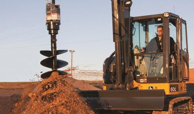 Turn a Mini Excavator into a Meticulous Hole Digger with an Auger Implement