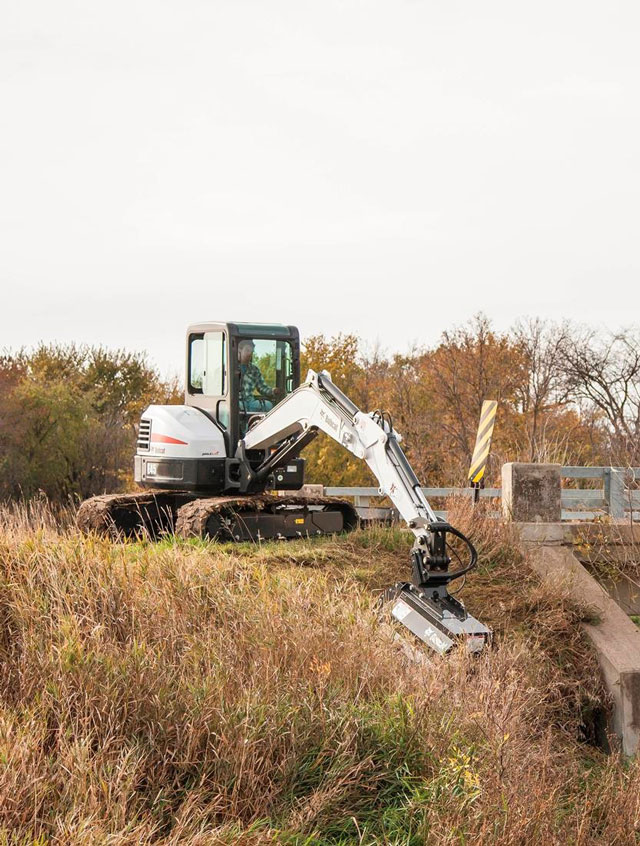 Bobcat Expands Flail Mower Attachment Offering For Compact Excavators