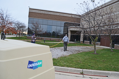 Aquaman Irrigation utilizes a Doosan Portable Power C185 gasoline-powered portable air compressor to winterize both commercial and residential irrigation systems.