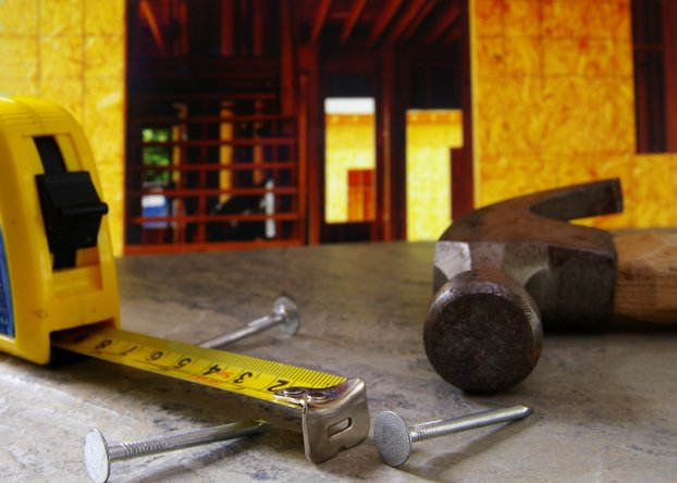 housing construction hammer nails measuring tape