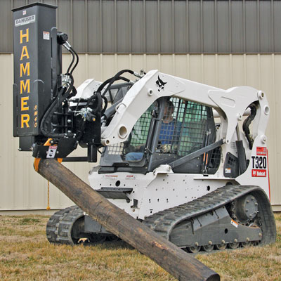 Even an experienced operator can unintentionally ignore dangerous parts of attachments, like raised hydraulic lift arms or moving and/or rotating parts, after working next to them all day.