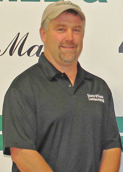 Dave Lowell, Manager of The Landscape Construction Division of Snow & Sons Tree & Landscaping.