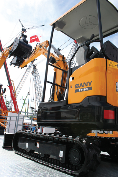 Sany America Compact Excavators — 2014 Spec Guide | Compact Equipment